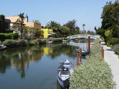 The Venice Canals in Los Angeles
