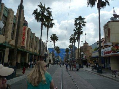 Strolling down the Hollywood Land Street in Disney California Adventure
