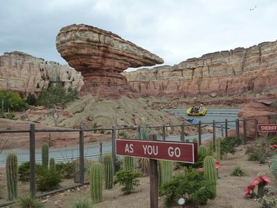 The Radiator Springs Race Track in Cars Land at Disneyland California Adventure