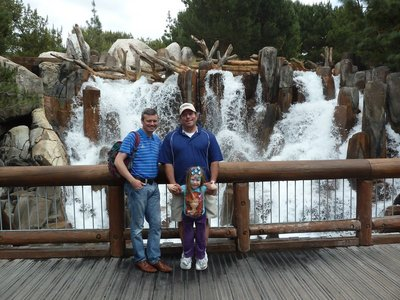 Posng in front of the waterfall in Grizzly Peak