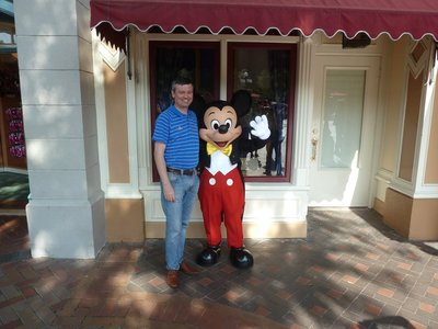 Me having my picture taken with Mickey Mouse