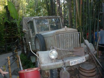 Truck on the way into the Indiana Jones Adventure in Adventureland