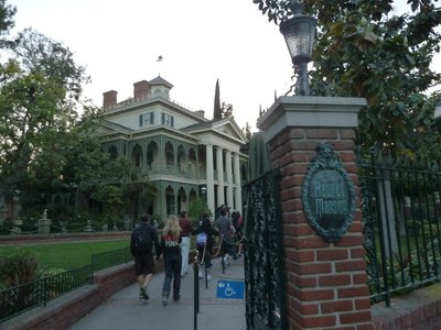 Entering the Haunted Mansion in New Orleans Square