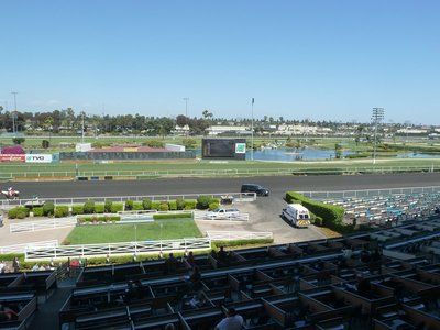My spectacular first view of the Hollywood Park Race Track