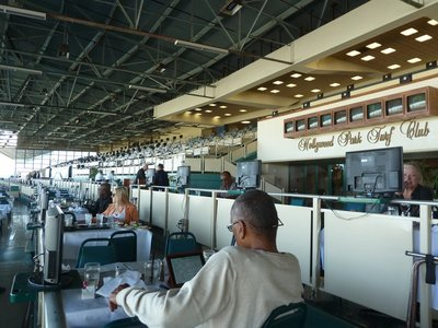 The Turf Club Terrace at the Hollywood Park Race Track