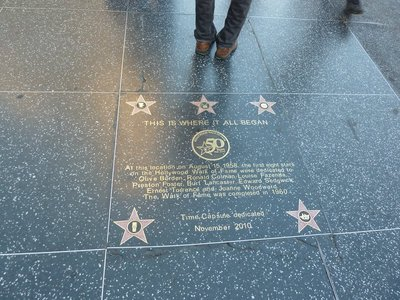 Where the Hollywood Walk of Fame began in 1958