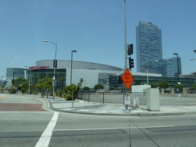 The Staples Center - home of the LA Lakers NBA Basketball Team