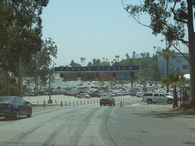 Our first view of the Dodgers Stadium