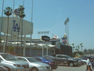View outside the Dodgers Stadium