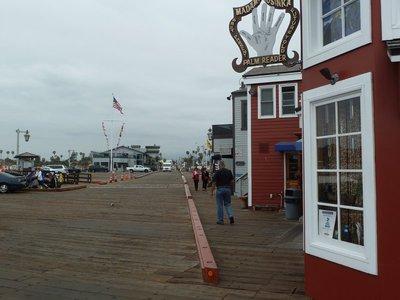 Looking back along Santa Barbara Pier from Stearns Wharf