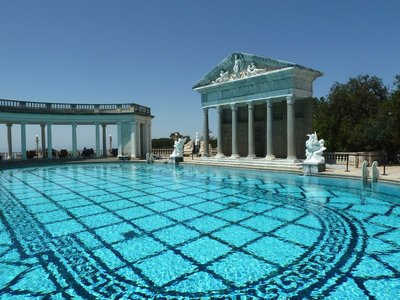 Another view of the Neptune Pool at Hearst Castle