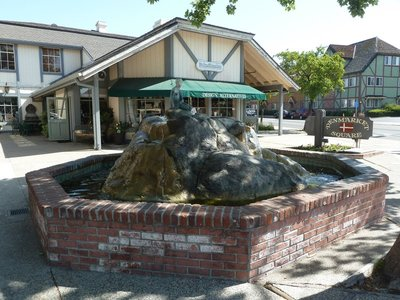 The Mermaid's Fountain in Solvang