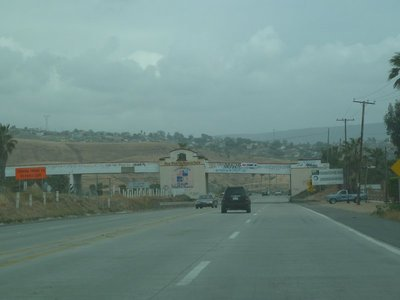 Entering the town of Puerto Nuevo in Baja California Mexico