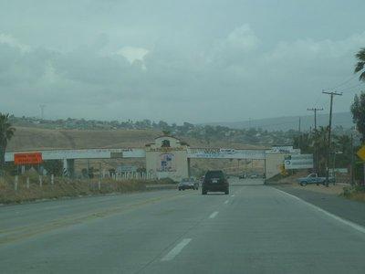 Entering the town of Puerto Nuevo in Baja California Mexico