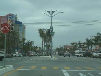The street outside the Rosarito Beach Hotel