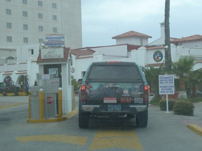 Security Checkpoint at the Rosarito Beach Hotel