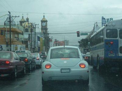 Traffic jam in downtown Tijuana