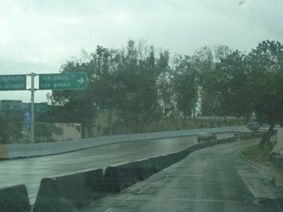 Following the signs in Tijuna to the USA border