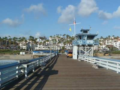 Looking back along San Clemente Pier