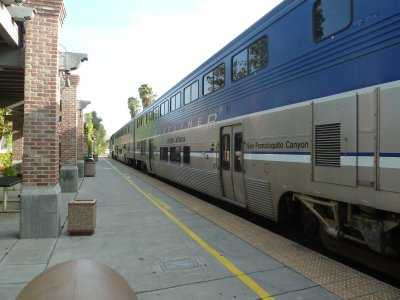 My train pulls into San Juan Capistrano Station to take me to Fullerton