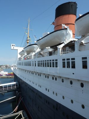 The view boarding the Queen Mary at Long Beach