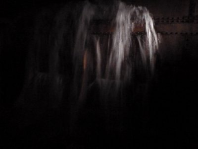 Simulated water flooding in the side of ship down in one of the Engine Rooms during the 'Ghost and Legends Tour'