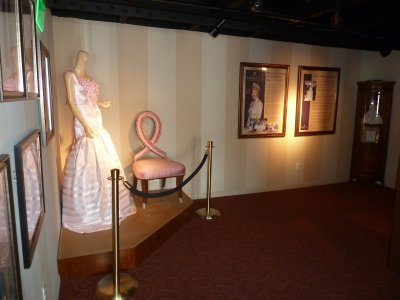 Entrance to the 'Diana: Legacy of a Princess' Exhibition aboard the Queen Mary