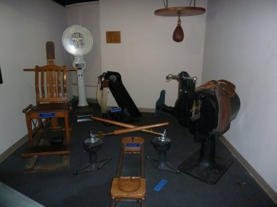 Gym as used by American Soldiers aboard the Queen Mary during WWII