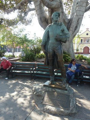 Statue of Felipe de Neve, Spanish Governor of California 1775-1782 and founder of Los Angeles