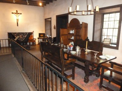 The family room in the Avila Adobe where regular meals were eaten
