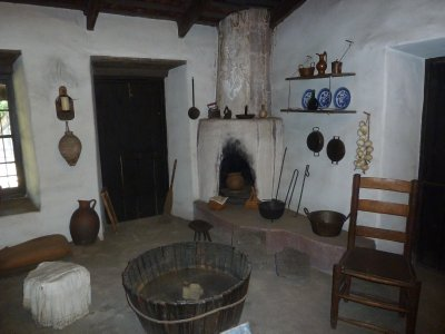 The Indoor Kitchen in the Avila Adobe