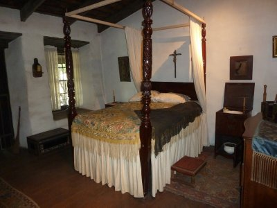 The parents bedroom in the Avila Adobe