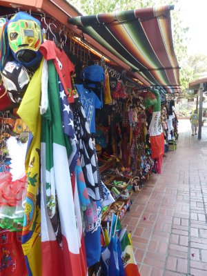 More market stalls on Olvera Street