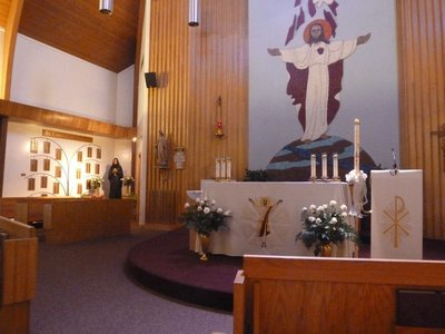 Inside the Chapel of the Mother Cabrini Shrine