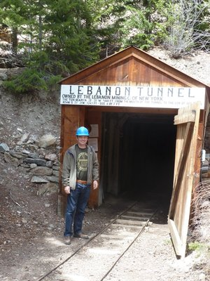 Me stood by the entrance to the Lebanon Silver Mine