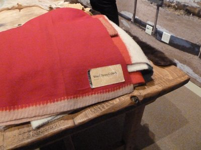 Bent's Fort in 'Colorado Stories' - and amongst the goods being traded is Stroud Scarlet Cloth from back home in Gloucestershire!