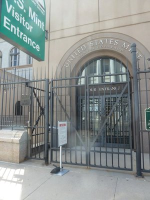 The visitor's entrance to the US Mint in Denver