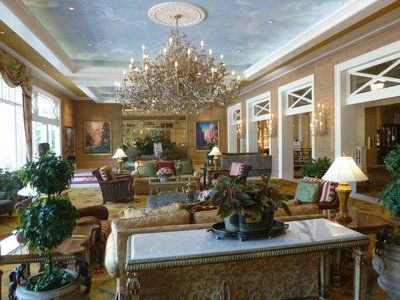 Lounge area inside the Broadmoor Hotel
