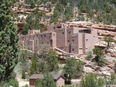 The Pueblo Indian style museum built below the Cliff Dwellings