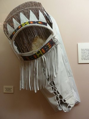 Indian cradleboard in the Anasazi Museum at the Manitou Cliff Dwellings