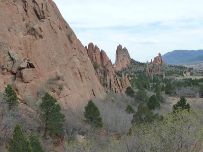 The Central Garden at the Garden of the Gods