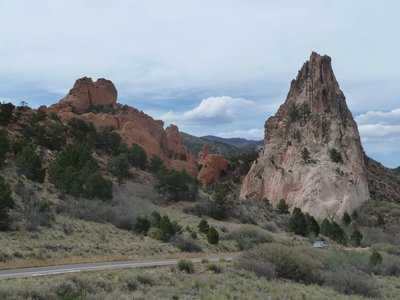 The 'Gray (Cathedral) Rock' at the Garden of the Gods