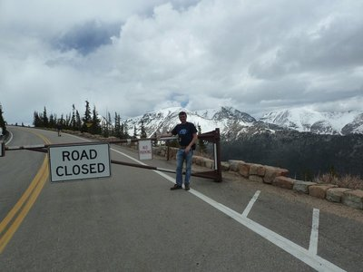 Trail Ridge Road was closed at Rainbow Curve until the following weekend