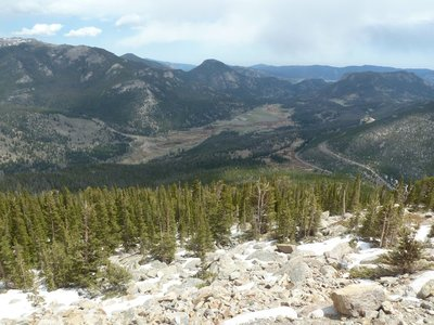 Horseshoe Park and the Alluvial Fan from Rainbow Curve