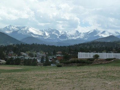 The view of the mountains from the Stanley Hotel