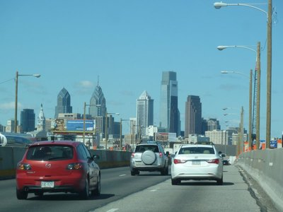 My first view of downtown Philadelphia