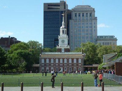 My first view of Independence Hall