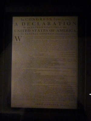 Copy of the Declaration of Independence inside the West Wing - no flash allowed!