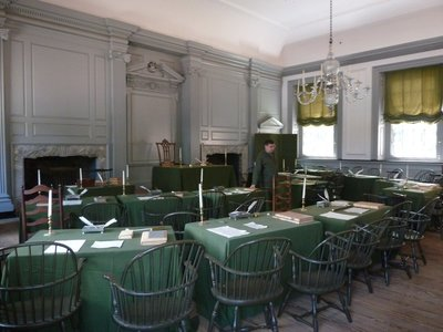 Independence Hall Assembly Room - where the Declaration of Independence was adopted in 1776