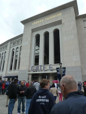 Joining the queue at Gate 6 outside the Yankee Stadium